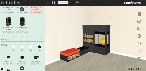 konfigurator; nowoczesny kominek; projekt kominka; kominek na drewno; kominek niemiecki; ekskluzywny kominek